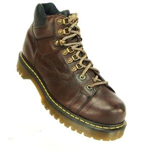 DR MARTENS DM MENS BROWN LEATHER BOOTS ENGLAND